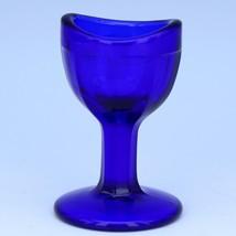 Vintage Cobalt Blue Glass Eye Washer Rinse Cup c1940
