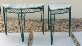 Rare Pr Vintage Mid Century Modern Tempestini Salterini Iron Side Tables  - $7,425.00