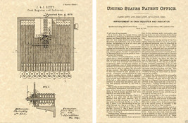 1879 CASH REGISTER US Patent Art Print READY TO FRAME! Ritty vintage first - $9.89