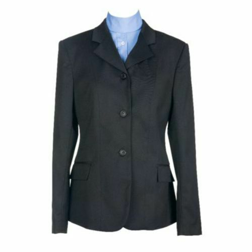 Devon-Aire Ladies Hunt Coat Stretch Black 8 Regular NEW