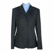 Devon-Aire Ladies Hunt Coat Stretch Black 8 Regular NEW image 1