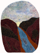 Canyon River: Quilted Art Wall Hanging - $335.00