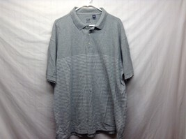 Men's Gray w White Lines Collared Short Sleeve POLO by GAP Sz XL