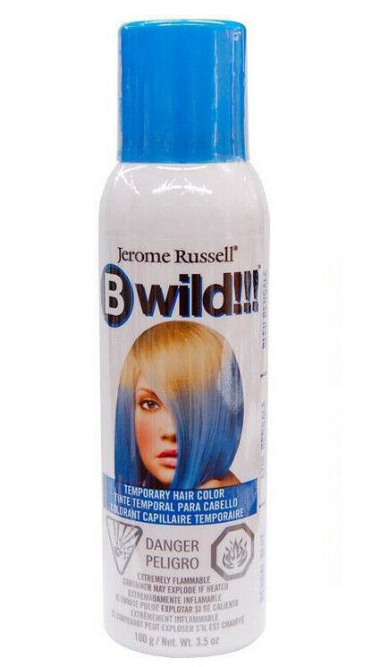New Jerome Russell B Wild Temporary Hair Color Spray 3.5 OZ Bengal Blue
