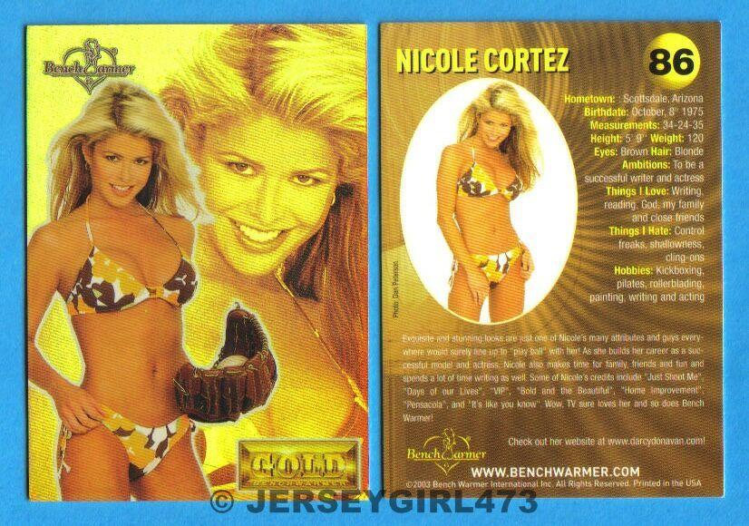 Nicole Cortez 2003 Bench Warmer Gold Edition Card #86
