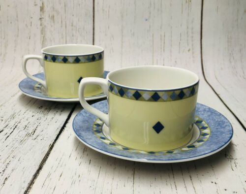 Primary image for Royal Doulton CARMINA Fine China 1999 Coffee Cup and Saucer Set Of 2