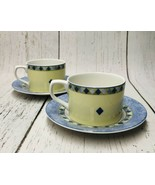 Royal Doulton CARMINA Fine China 1999 Coffee Cup and Saucer Set Of 2 - $14.85
