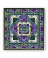 Violet Nosegay counted canvaswork needlepoint c... - $18.00