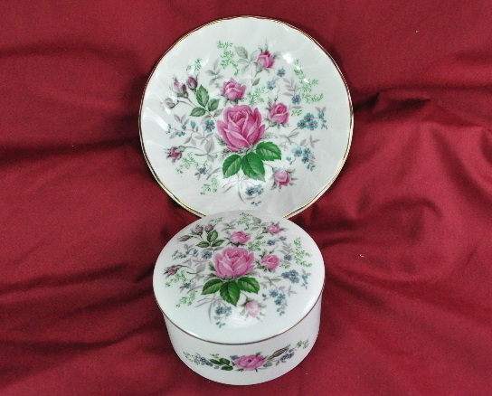 Royal Stafford Victorias Secret Bone China soap dish powder