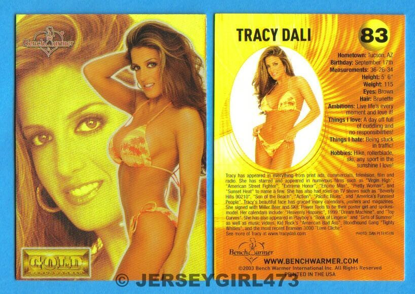 Tracy Dali 2003 Bench Warmer Gold Edition Card #83