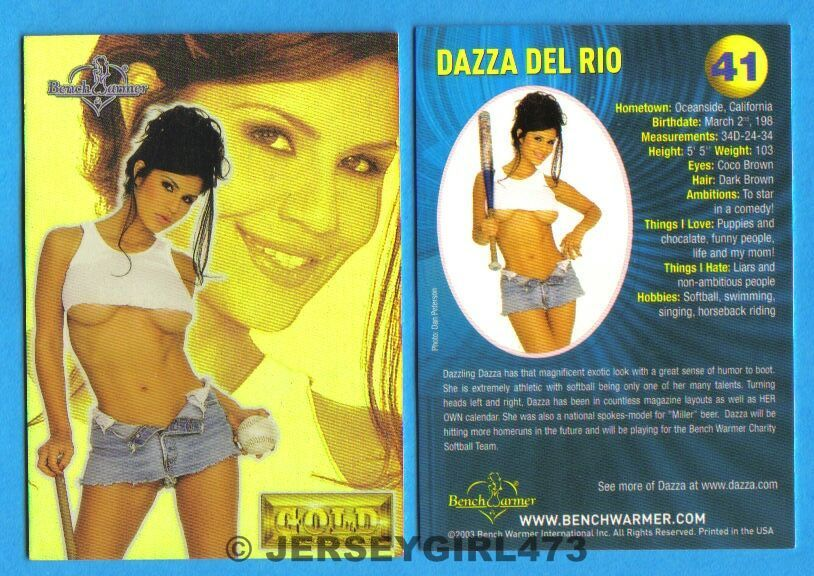 Dazza Del Rio 2003 Bench Warmer Gold Edition Card #41