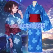 Anime Moive Kiminonawa Your Name Miyamizu Mitsuha Cosplay Kimono Summer Yukada - $52.63