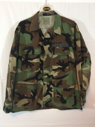 Primary image for Air Force Men's Digital Camo Uniform Utility Shirt Jacket Coat Sz MEDIUM-Short