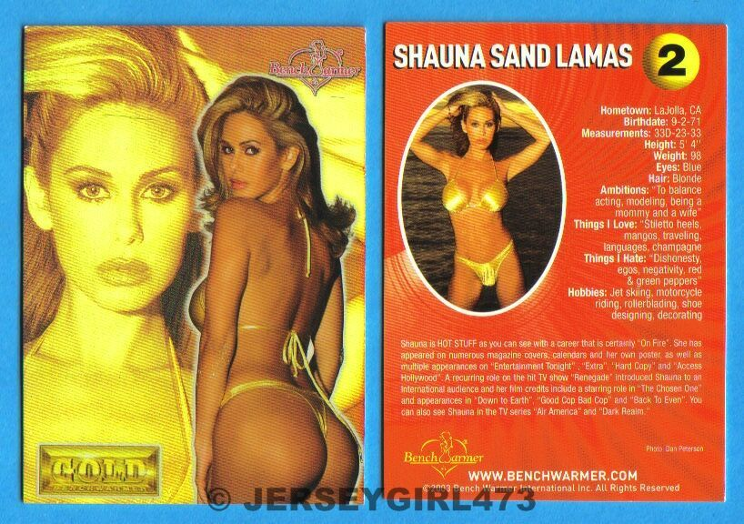 Shauna Sand Lamas 2003 Bench Warmer Gold Edition Card #2