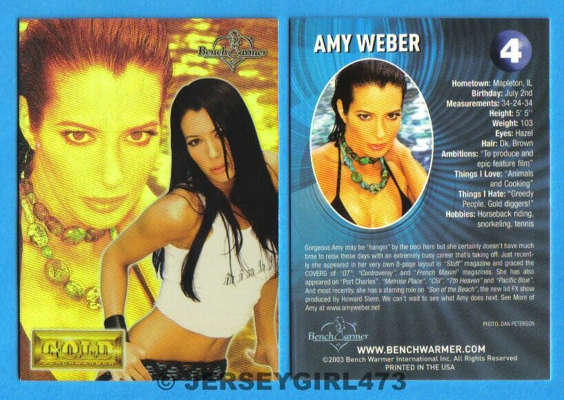 Amy Weber 2003 Bench Warmer Gold Edition Card #4