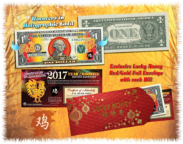2017 Chinese New Year - YEAR OF THE ROOSTER - Gold Hologram Legal Tender... - $9.85