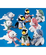 Plush Penguin With Scarf and Matching Cap - $3.00