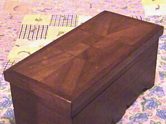 Mahogany Wood Inlay Document Box