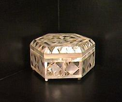 Mother of Pearl & Paua Shell Inlay Jewelry Box