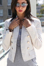 Blazer stylish buttoned open front - $27.99