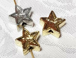 5 Point Star Fine Pewter Bead - 12x12x6mm; Hole 2mm