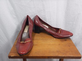 Etienne Aigner Block Heels Pumps Size 10W Burgu... - $14.99