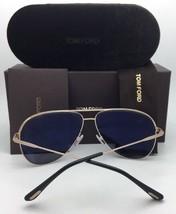 Polarized TOM FORD Sunglasses ERIN TF 466 17D 61-12 Silver Aviator w/ Grey Fade - $399.95
