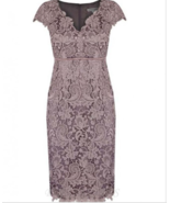 Sheath V-neck Cap Sleeves Lace Empire Mother of The Bride Dress with Sash - £94.25 GBP+