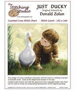 Just Ducky cross stitch Donald Zolan The Stitching Studio  - $14.40