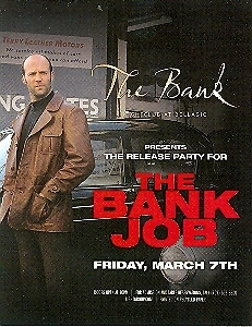 The Release Party For The Bank Job Promo Card