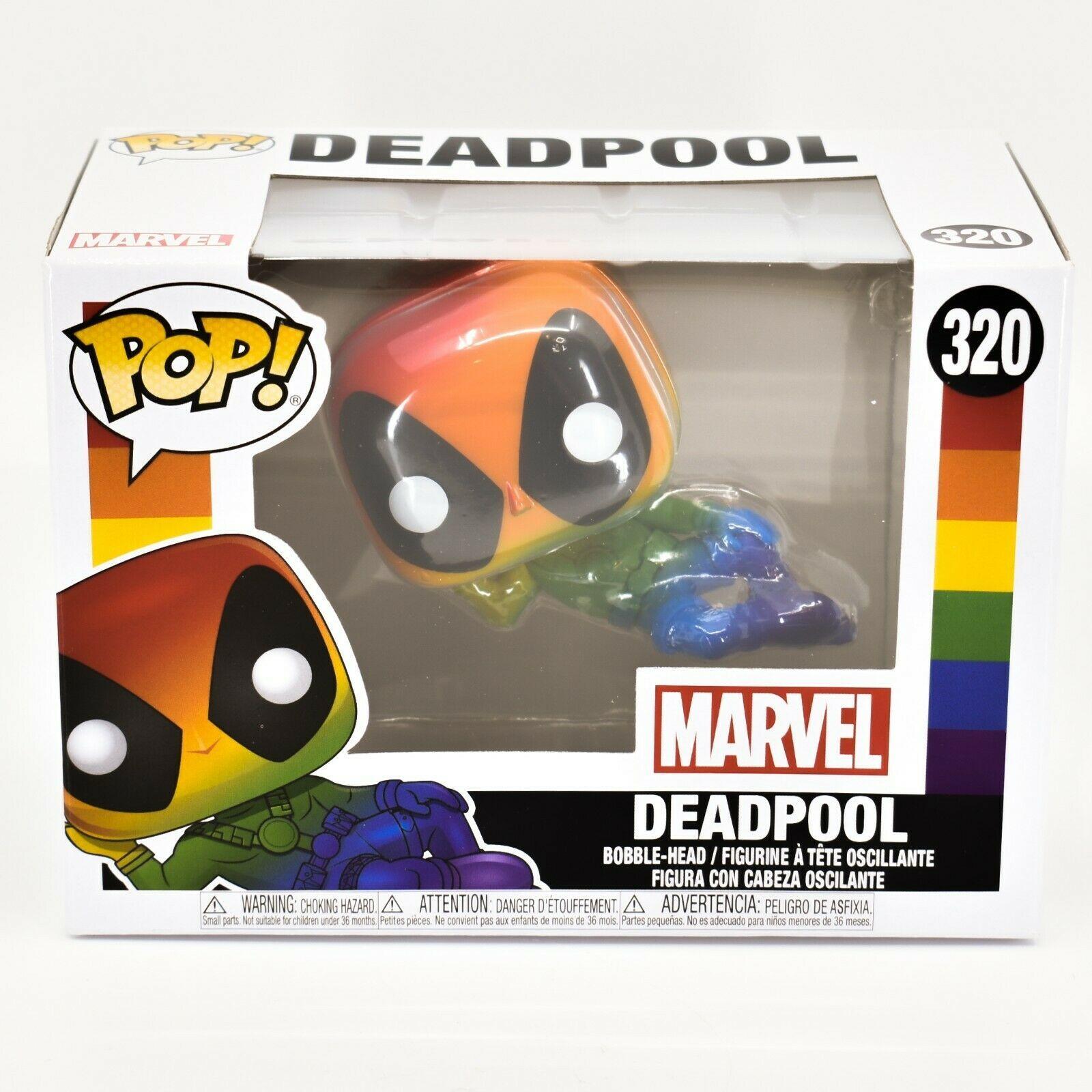 Funko Pop! Marvel Pride 2021 Rainbow Deadpool #320 Vinyl Figure