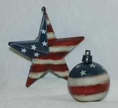 Hannas Handiworks 60650 American Flag 4 Ornament Set 2 Hearts 1 Ball Star image 3