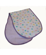 Baby Flannel Burp Cloth Lots of Dots - $10.00