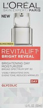 L'Oreal Paris, Revitalift Bright Reveal Face Moisturizer with SPF 30, 1 ... - $25.53