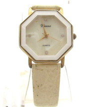 Elegant Vintage Gold Tn White Face Vienna*Quartz*Ladie'S Wristwatch*Jewe... - $11.88