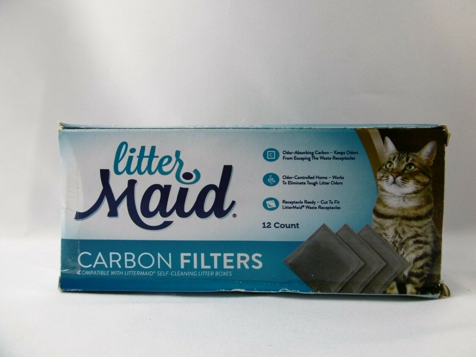Primary image for LitterMaid Odor Absorbing Litter Box Carbon Filters 12 Pack