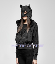 New Punk Rave Gothic Rock Black Cotton Catwoman Hoodie Jacket PY-208 Fast Post - $52.77