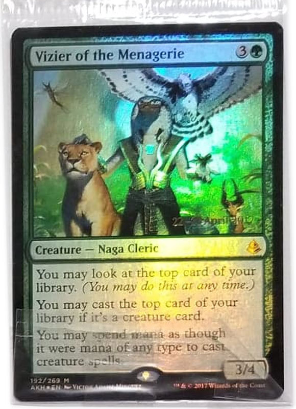 """Magic the Gathering MTG """"Vizier of the Menagerie"""" Mythic Rare Foil Promo Card x1"""