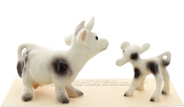Hagen-Renaker Miniature Ceramic Cow Figurine Spotted Mama and Baby Calf image 4
