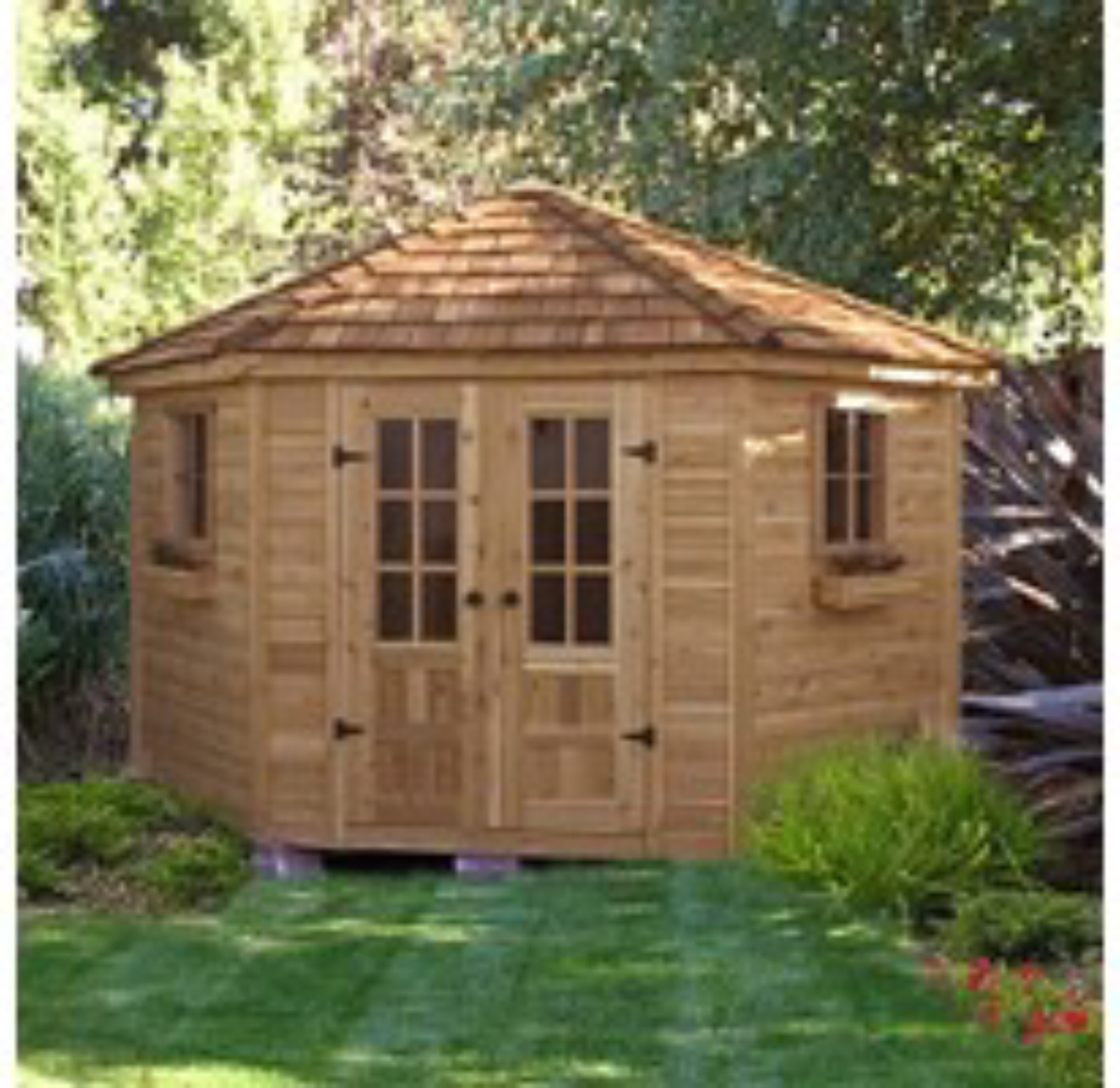 Penthouse w/ Floor - 9' x 9',Outdoor Storage Shed,Wood Shed.Tool Shed, New