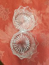 """PAIR OF CANDY DISH WIGGLY EDGE, CIRCLES AND STAR BOTTOM 4"""" X 2"""" image 3"""