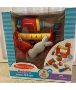 Melissa & Doug Plush Toolbox Fill and Spill Toolbox 9pcs New Learning Toy - $24.74