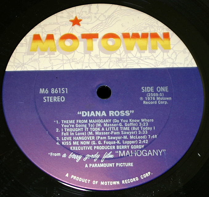 "Diana Ross  ""Mohagany""  Motown Records M6-861S1   LP"