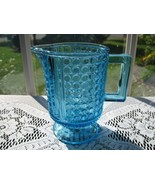 EAPG Antique Blue Glass Creamer - Three Panel - $36.00