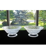 EAPG Rose in Snow Footed Sauce Dishes - Pair - $12.00