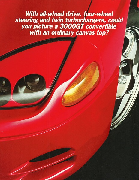Primary image for 1995 Mitsubishi 3000GT SPYDER introductory brochure catalog US 95 VR-4