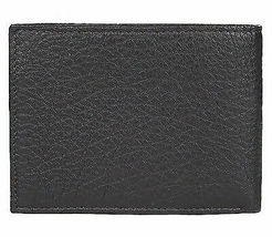 Calvin Klein Ck Men's Leather Bifold Id Wallet Key Chain Set Black 79080 image 3