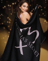 Victoria's Secret Limited Edition Cozy Blanket Throw Blanket In Black 50... - €19,73 EUR