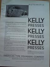 Vintage Automatic Kelly Presses Print Magazine Ad 1930 - $12.99