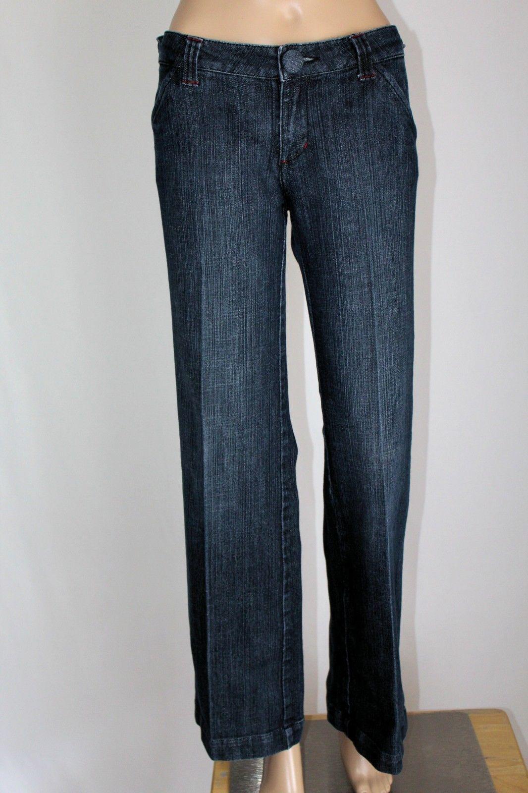 "BOOM BOOM Junior Women's Size 11 Wide Flare Leg Stretch Jeans 32"" Inseam EUC"